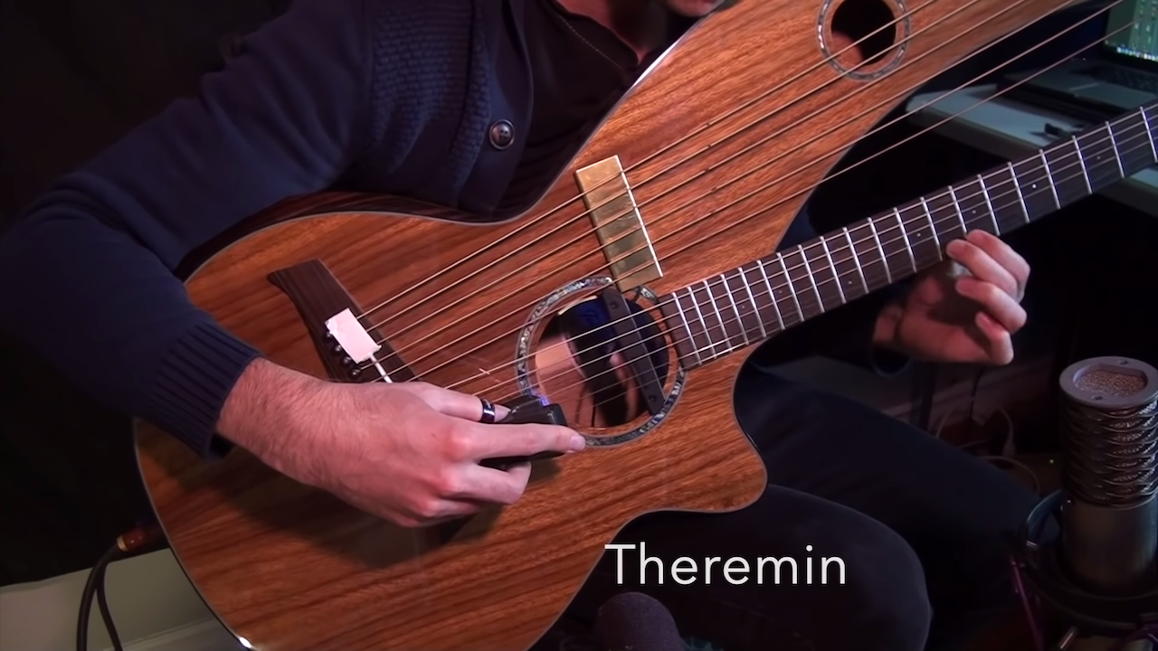 Jamie Dupuis Makes His Acoustic and Electric Harp Guitars