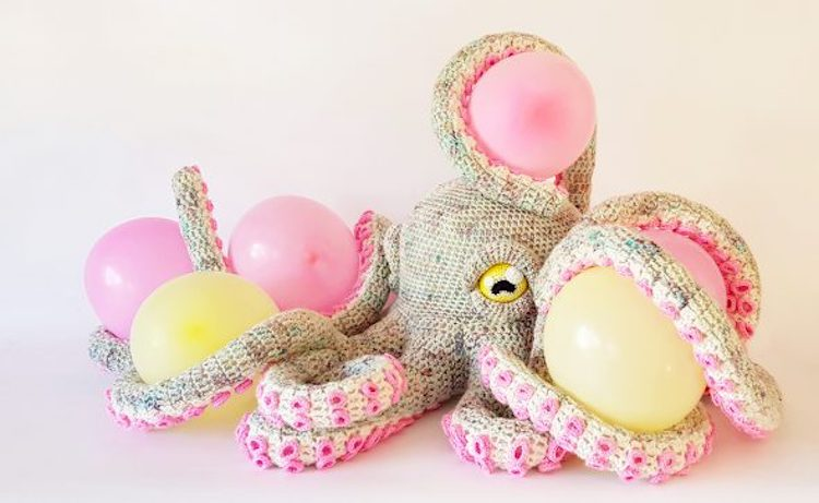 Apollo the Octopus With Balloons