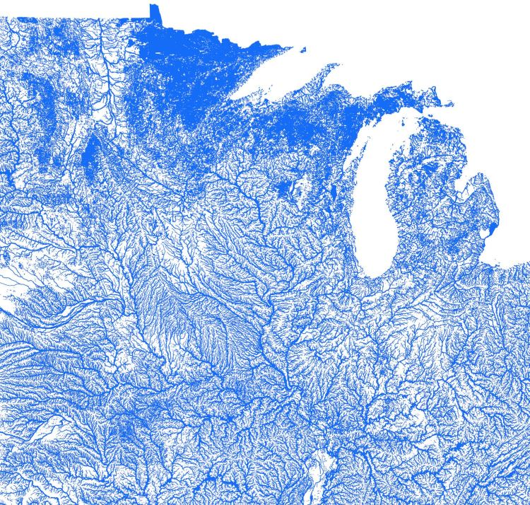 Artful Data Waterways Northern Midwest