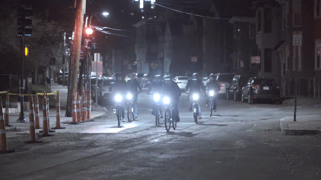 Bike Swarm Synchronized Lights