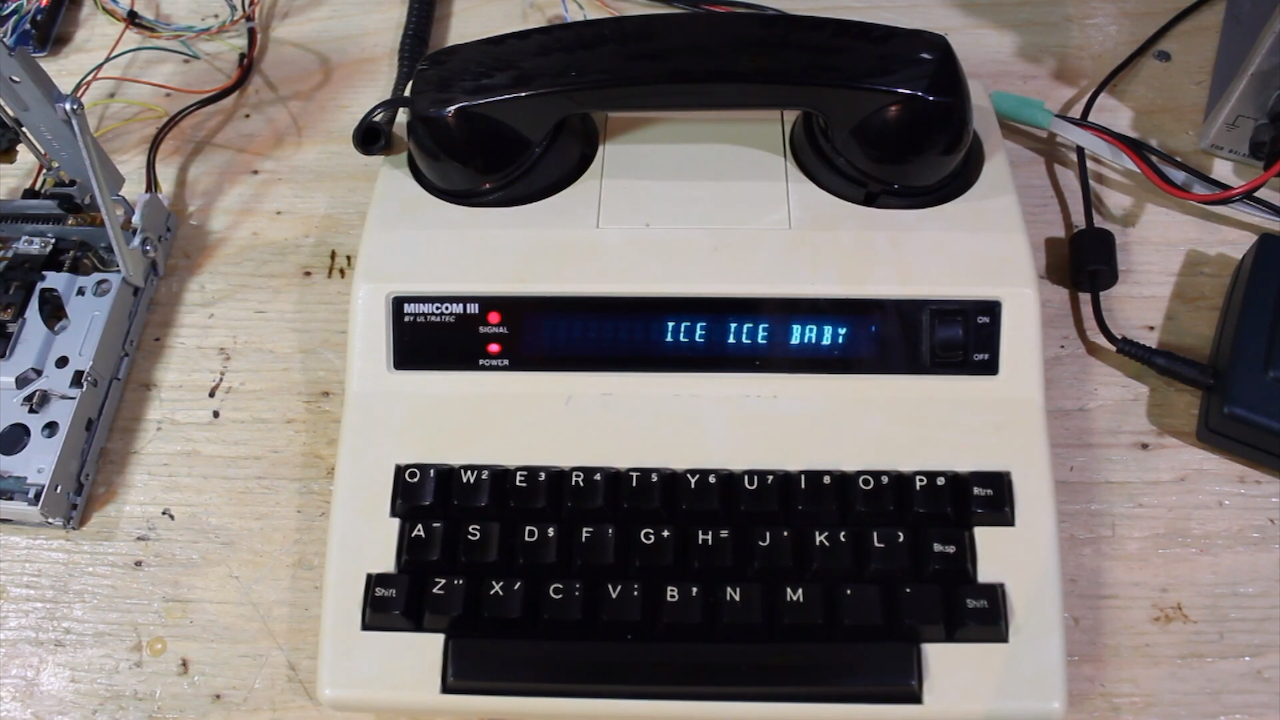 'Ice Ice Baby' Remixed on Vintage Electronic Equipment Using Stephen Hawking's DECTalk Vocals