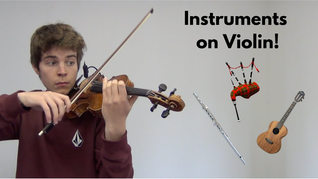 Musician Makes Violin Sound Like Other Instruments