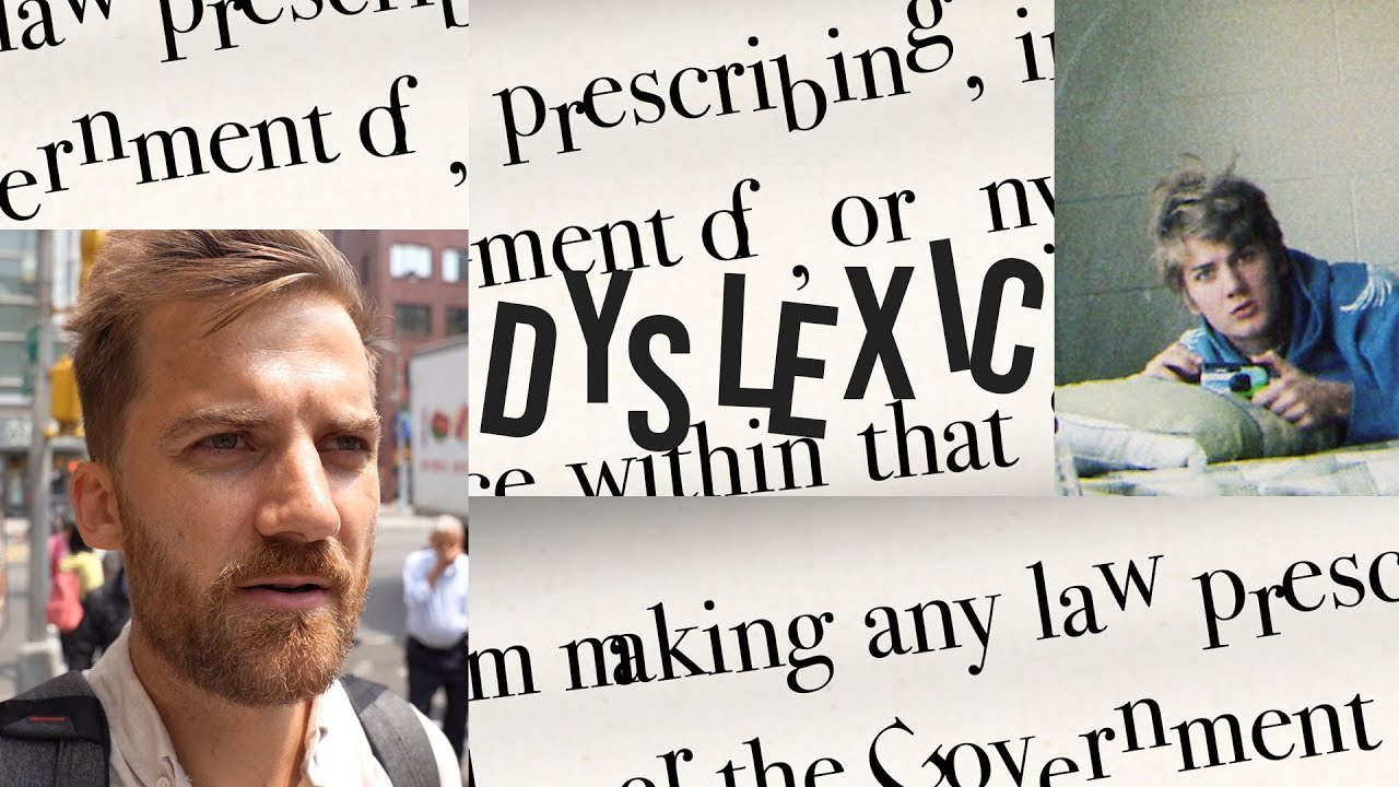 Dyslexic Man Candidly Explains What Dyslexia Is Like