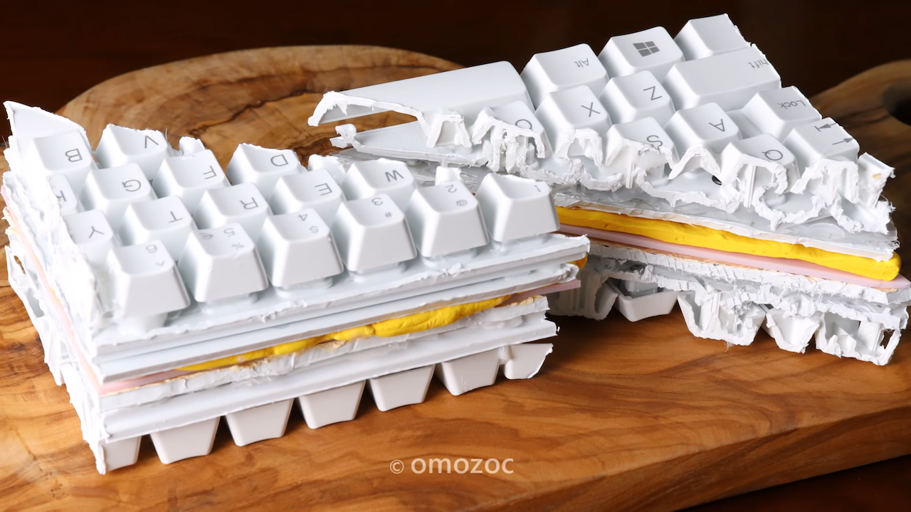 Frustrated Typist Makes a Sandwich Out of Keyboard With a Stuck Letter in a Clever Stop-Motion Animation