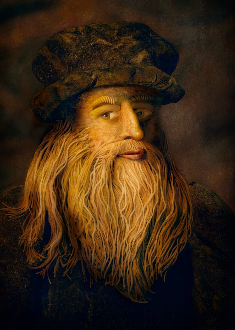 Leonardo Da Vinci Portrait Made From Italian Food Final