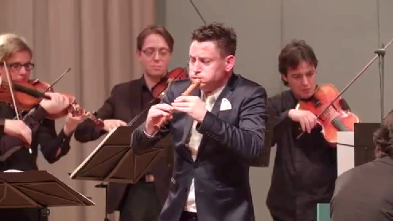 Musician Shreds a Serious Recorder Solo During an Orchestral Vivaldi Piece Written for the Instrument