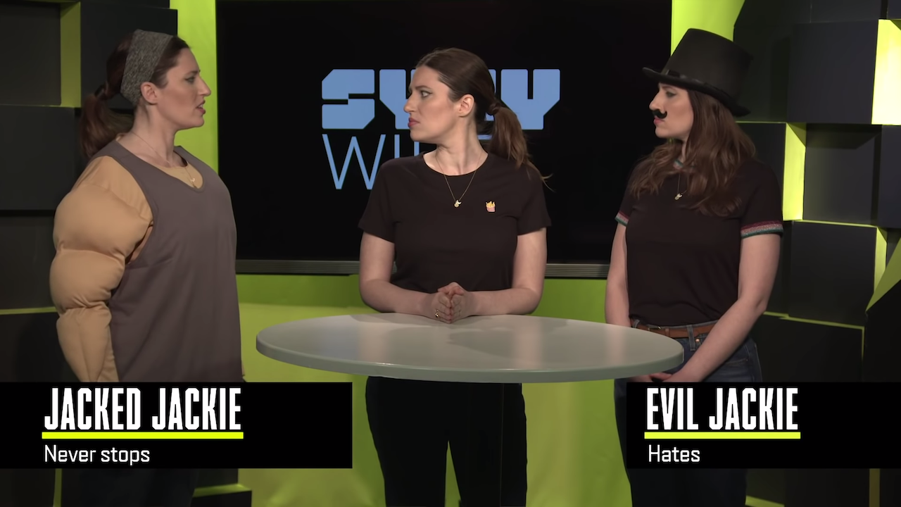 SyFy Host Explains the Difference Between Multiverse and Parallel Universe to Two Other Versions of Herself