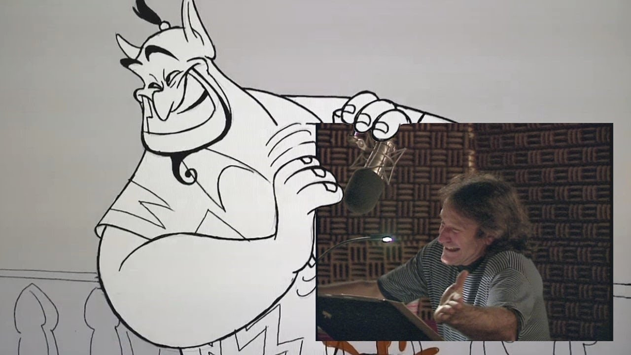 Rare Recording Outtakes of Robin Williams Doing the Voice of the Genie From 'Aladdin' in 1992