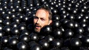 Swimming in Shade Balls