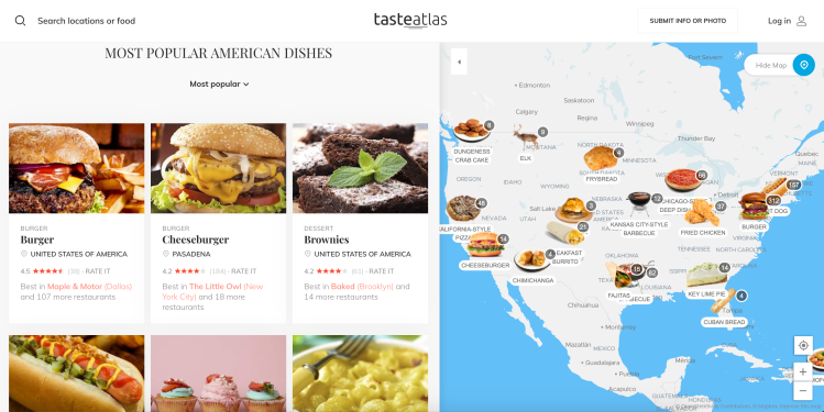 American Dishes Food Atlas