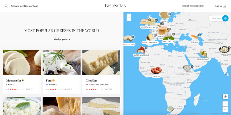 Tasteatlas An Interactive Map Of Food And Drink Art Sheep