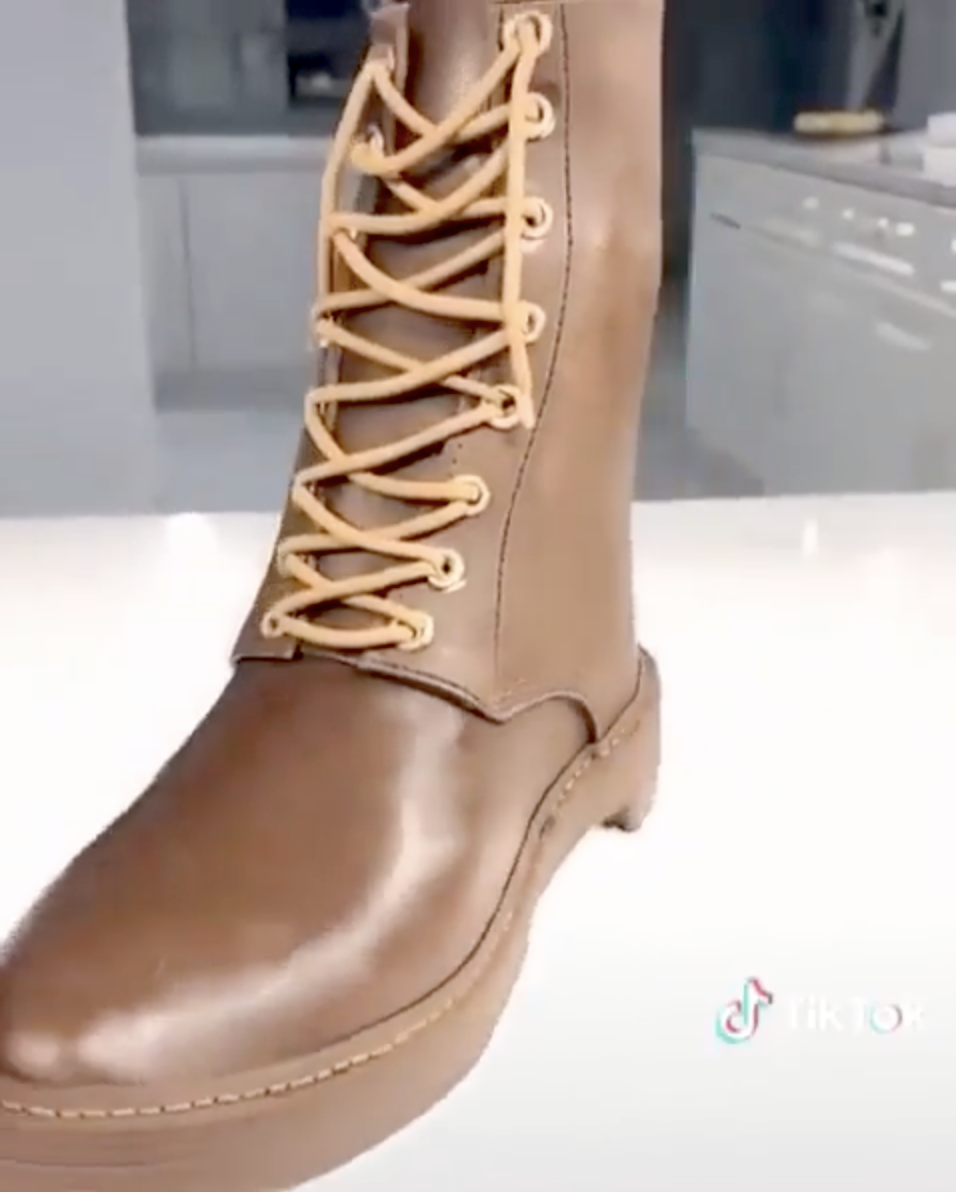 An Incredibly Realistic Brown Work Boot Cake