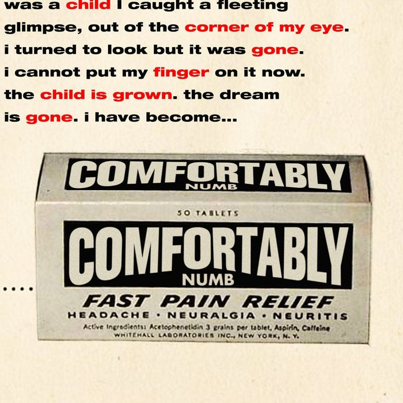 Comfortably Numb Fast Pain Relief