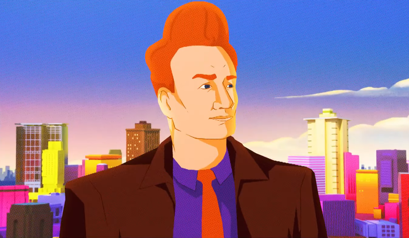 Animated Conan O'Brien Enters the Comic-Con Stage With a 'Spider-Man: Into The Spider-Verse' Cold Open