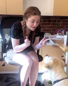 Deaf Woman Teaches Deaf Dog ASL