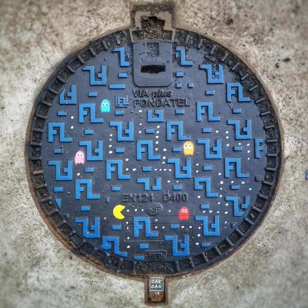 French Sewer Cover Pac Man