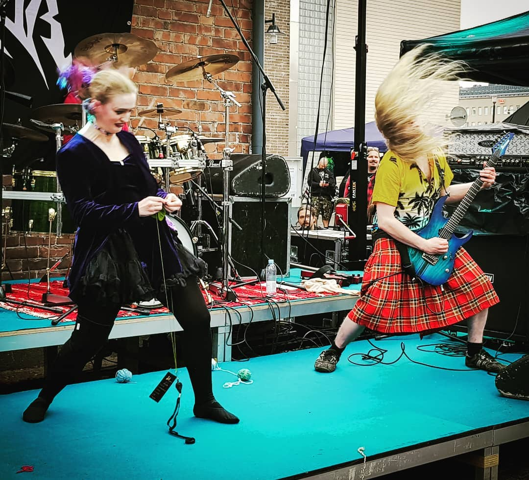 Headbanging Knitters Perform With Yarn and Needles at First Heavy Metal Knitting Championships in Finland