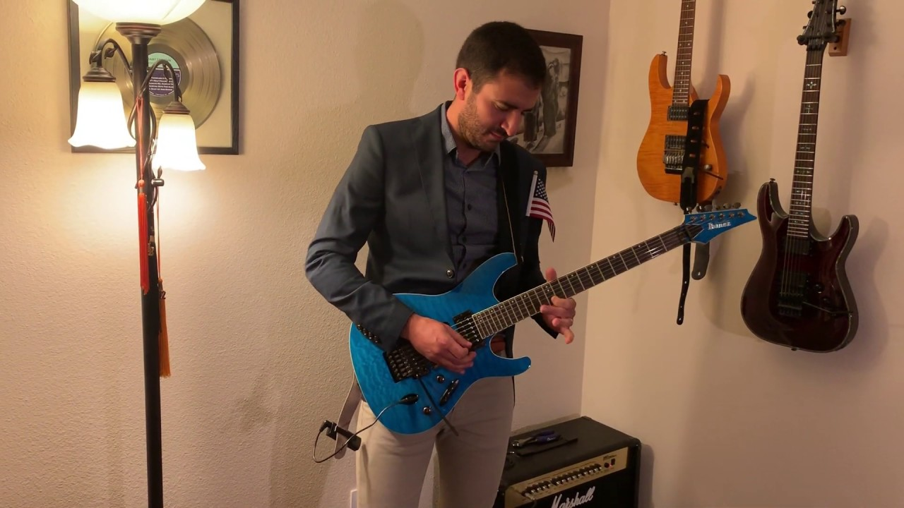 Newly Naturalized United States Citizen Celebrates By Playing The Star Spangled Banner On His New Guitar