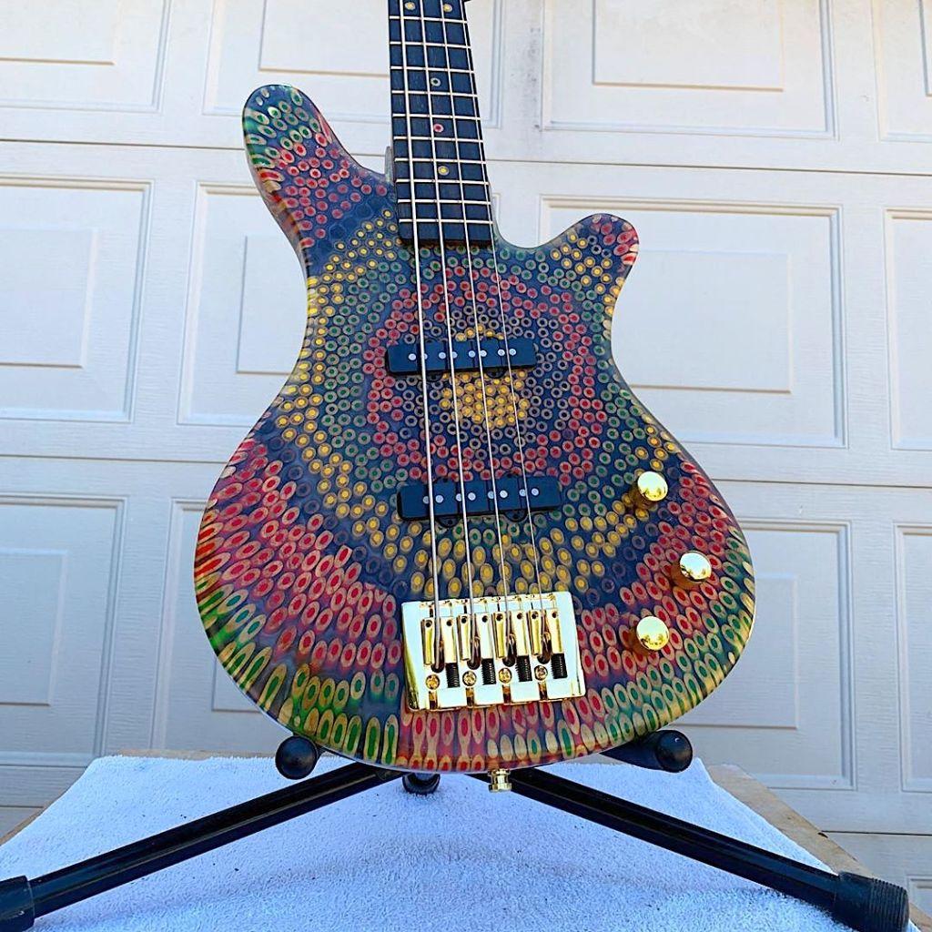 Reggae Colored Pencil Bass