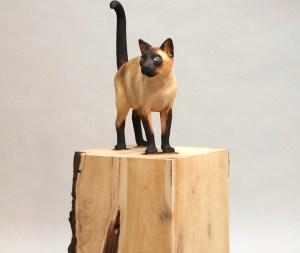 Siamese Cat Burnt Wood Gerard Mas