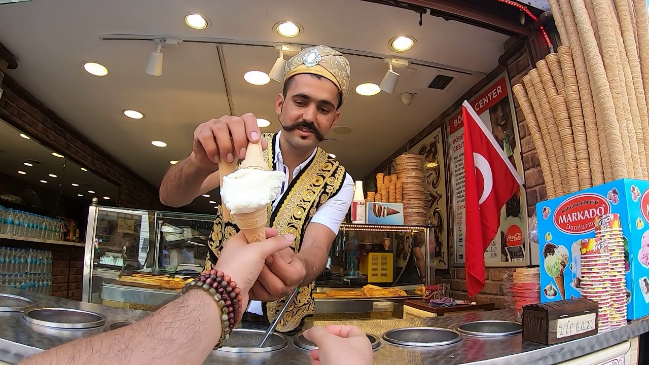 GoPro Captures Turkish Vendor Performing Sleight of Hand Tricks While Delivering an Ice Cream Cone