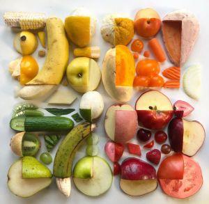 Adam Hillman Cropped Tops Geometric Foods