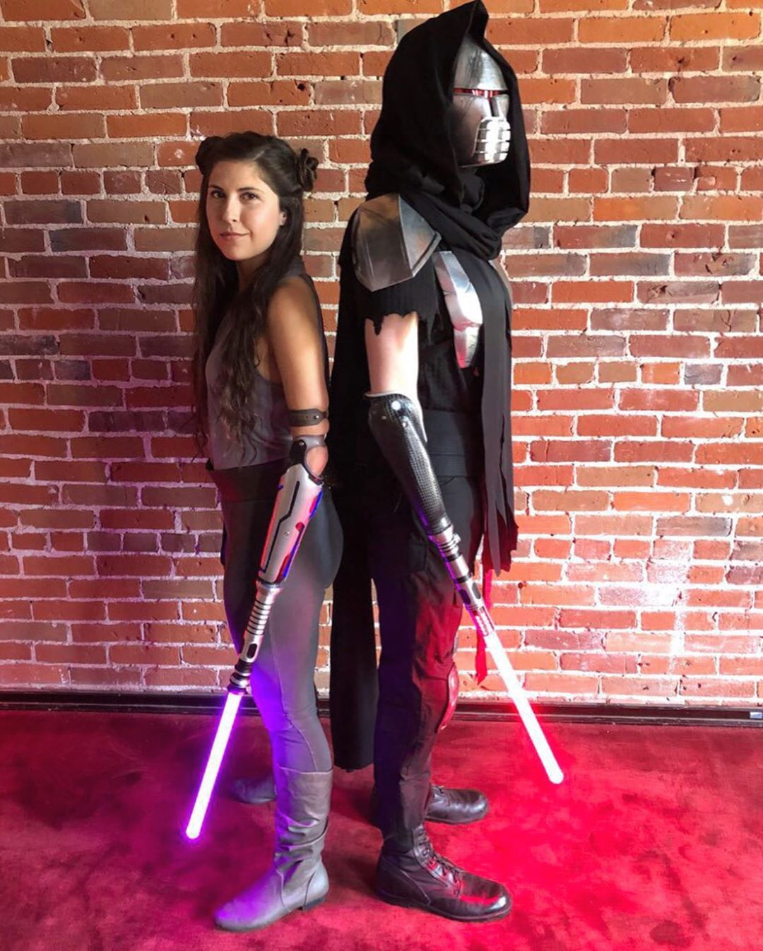 Angel Giuffria as Jedi Trace Wilson as Sith Lightsaber