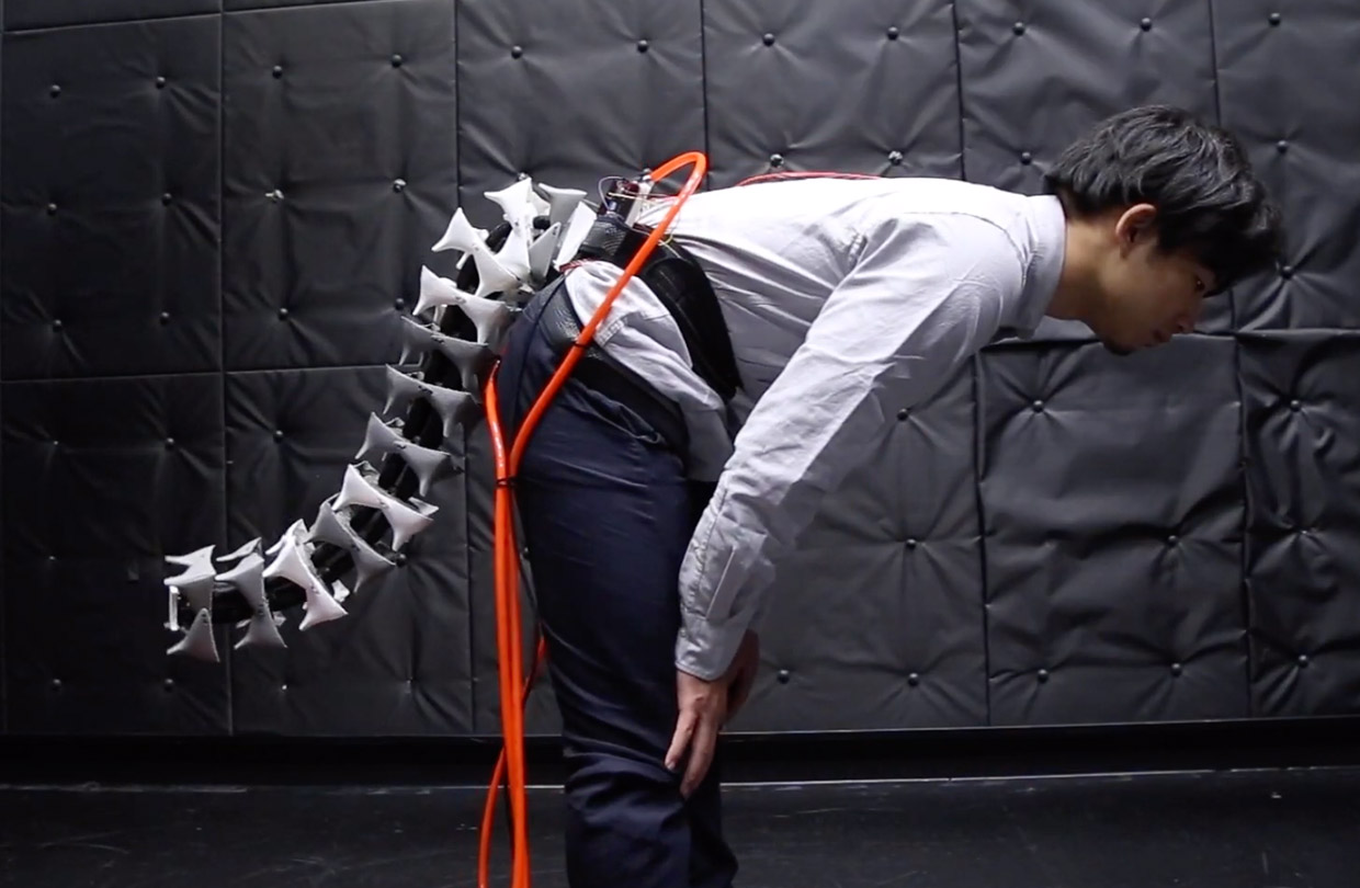 Arque, An Anthropomorphic Robotic Tail That Extends Human Balance, Reach and Agility