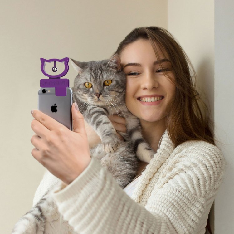 Cat Selfie With Cat