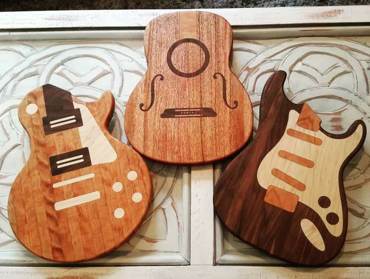 Dave Stencil Guitar Cutting Boards
