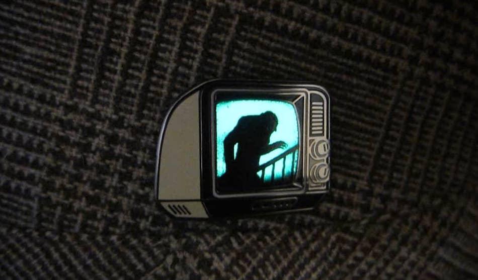Glow in the Dark Enamel TV Pin Josh Ellingson