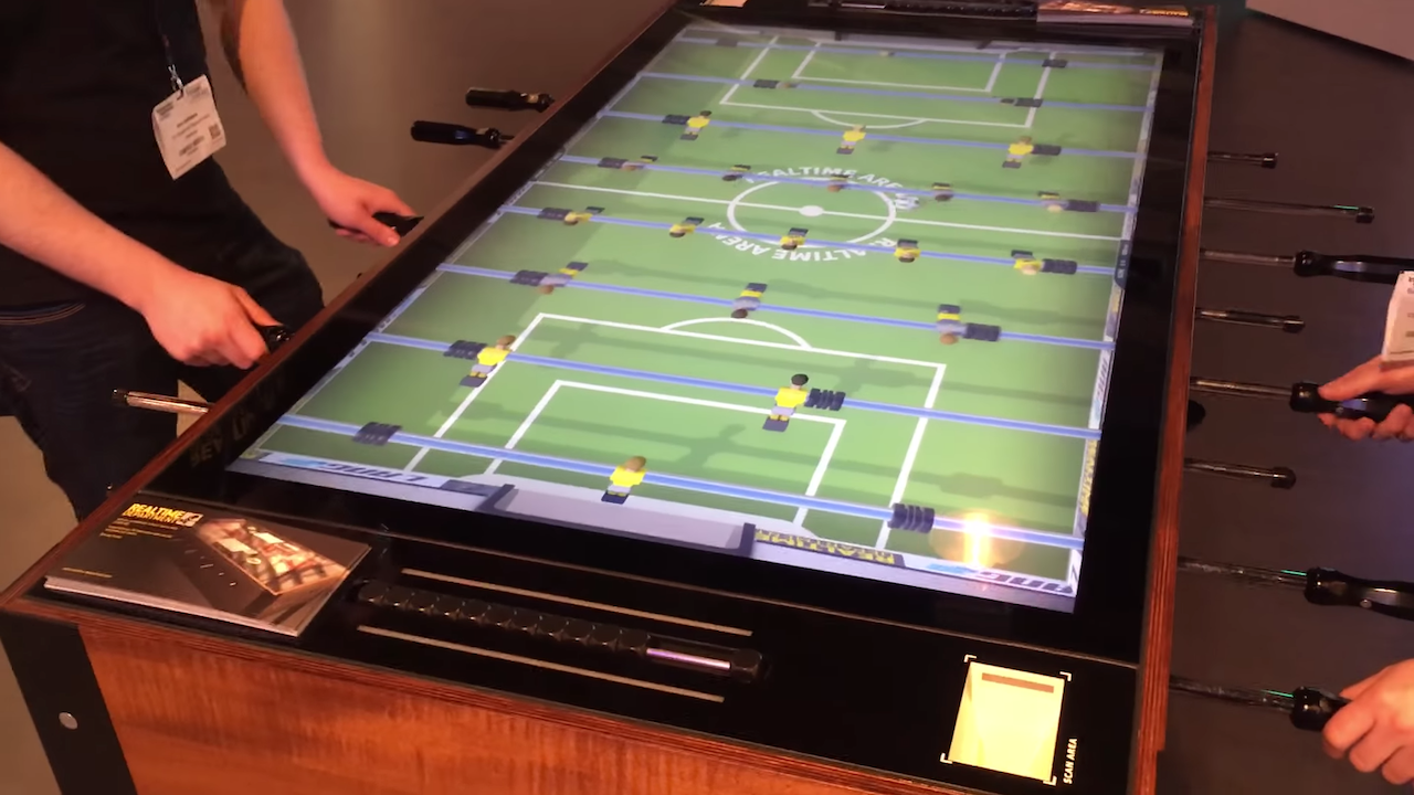 Digital Foosball Table That Features Analog Interactivity