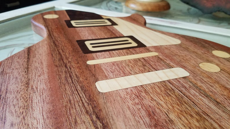LP Guitar Shaped Cutting Board Length
