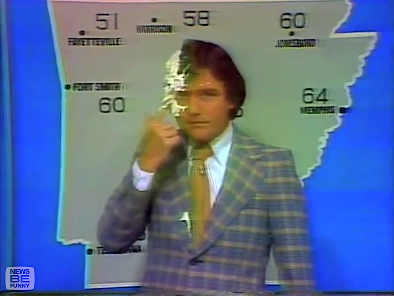 An Amusing Compilation of Awkward News and Weather Report Bloopers From the 1970s