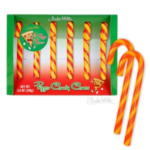 Pizza Candy Canes