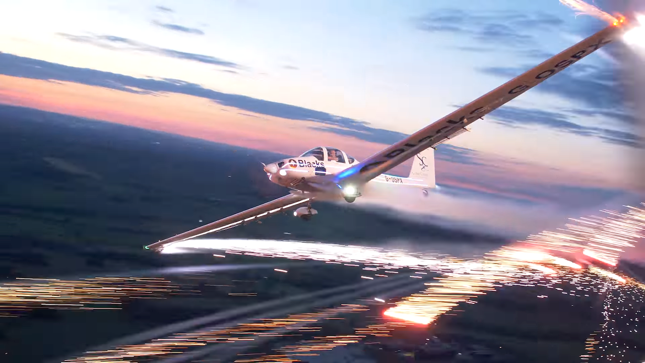 Flying In a Plane That Shoots Fireworks From Its Wings