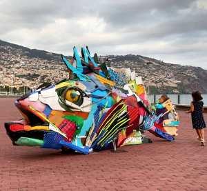 Bordalo ii Trash Animal Fish Madeira