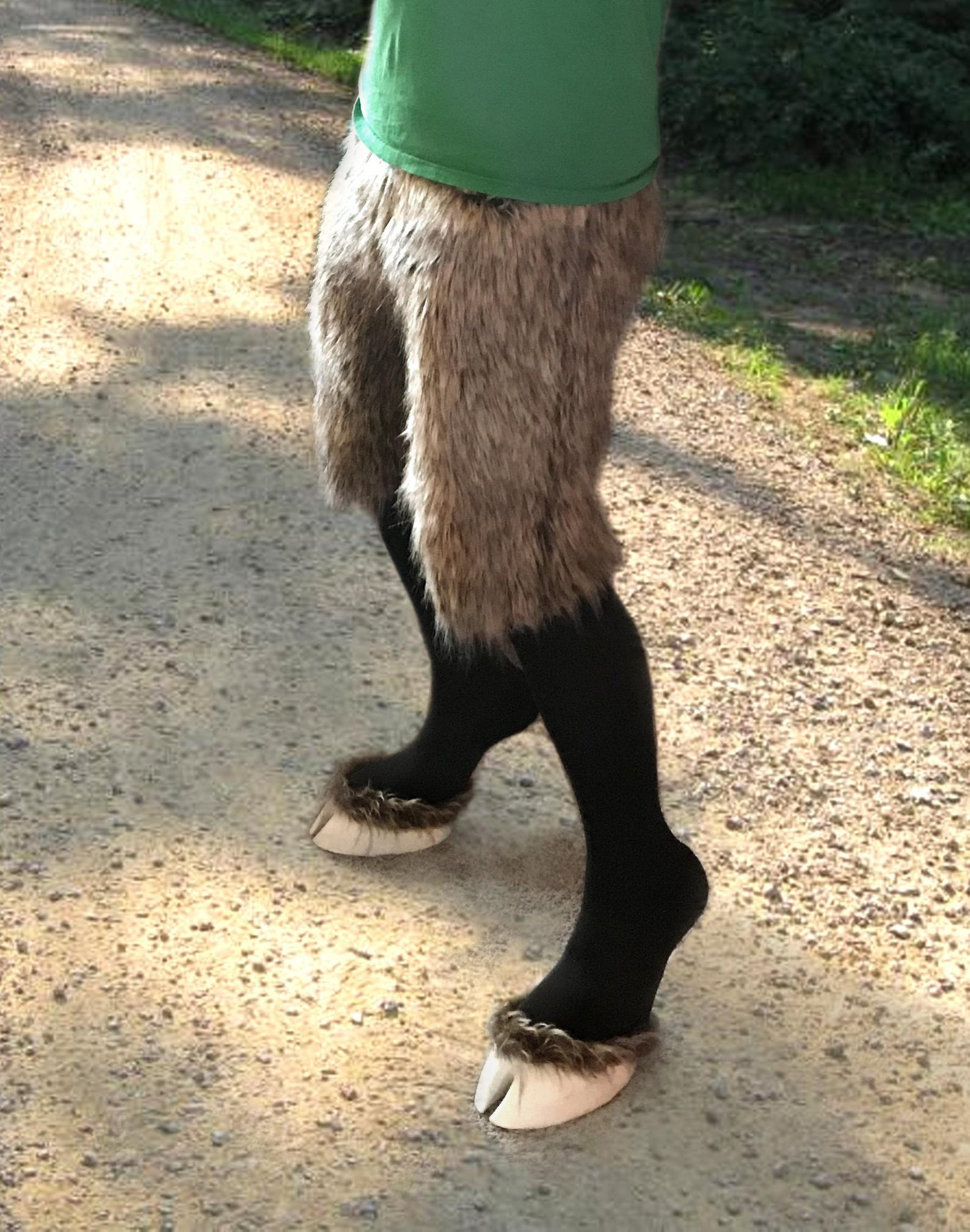 Creature Feet Hooves With Faux Fur Pants