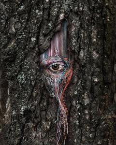 Diana Yevtukh Tree Eye Embroidery