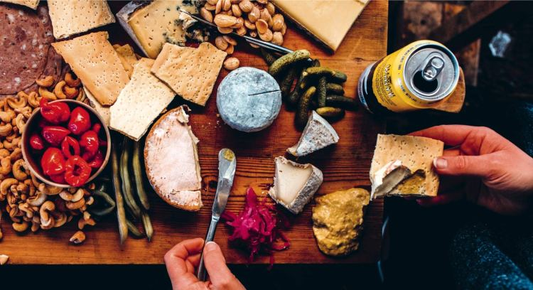 Drink Better Beer Cheese Plate