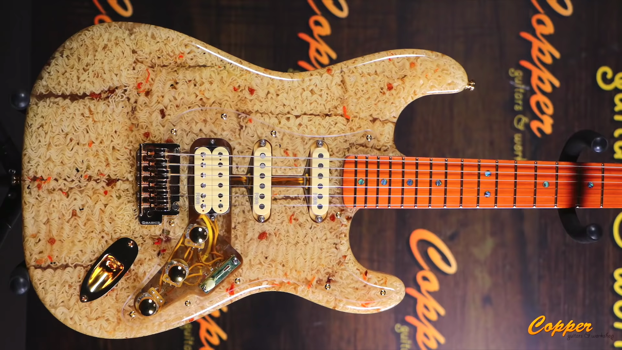 Building a Tasty Guitar Out of Instant Ramen Noodles