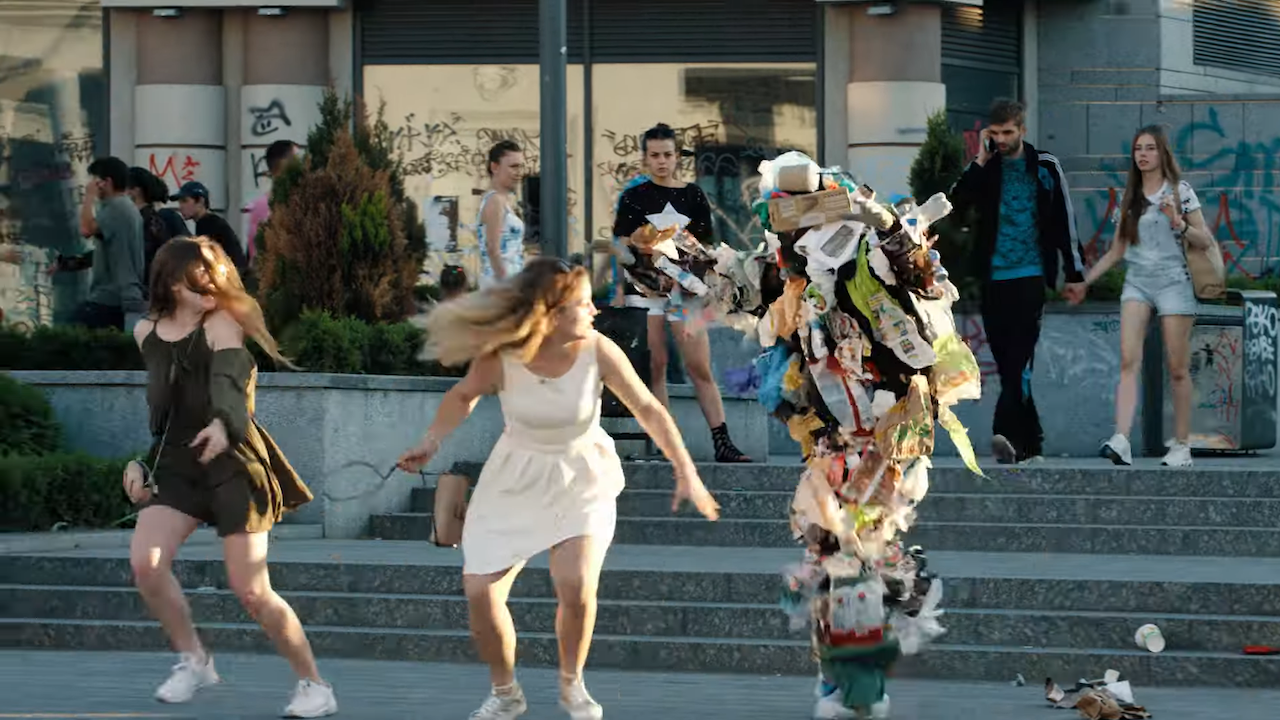 A Trash Pile Rises Up to Scare People Out of Littering