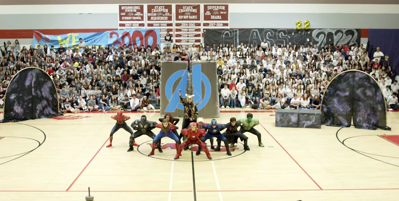 Students Perform Marvel-ous Avengers Themed 2019 Homecoming Dance Routine at an Arizona High School
