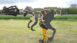Project Raptor Exoskeletal Mechanical Dinosaur Costume