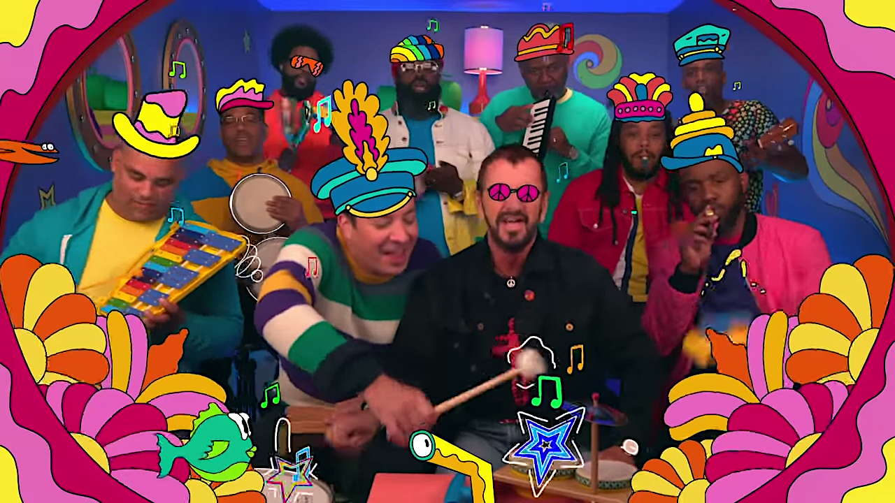 Ringo Starr Joins Jimmy Fallon and The Roots in a Rousing Toy Instrument Rendition of 'Yellow Submarine'
