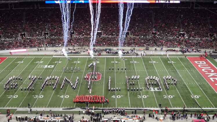 Ohio State Marching Band One Giant Leap Halftime Show