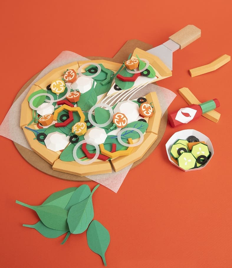 Delectable Meals Made Completely Out of Paper