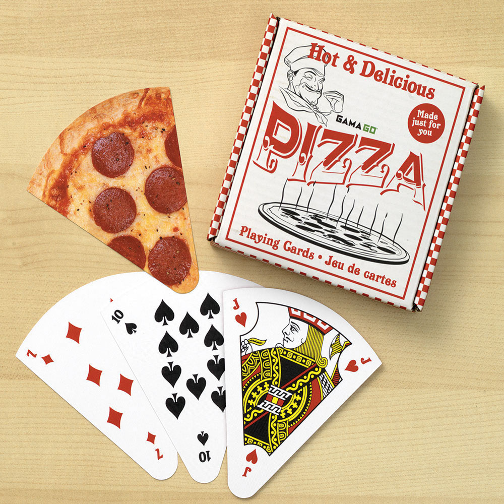 Playing Cards Shaped Like Slices of Pizza