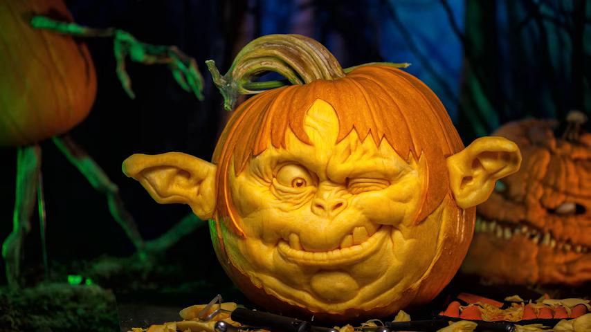 A Tour Inside a Master Pumpkin Carver's Studio