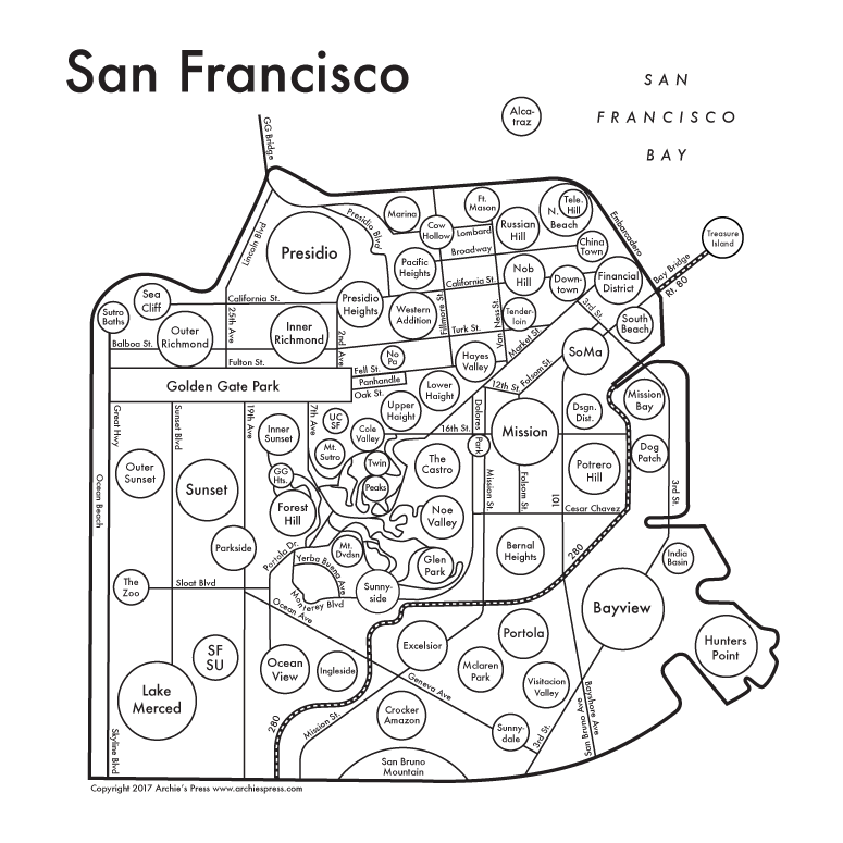 Illustrated Minimalist Maps of Cities Around the World